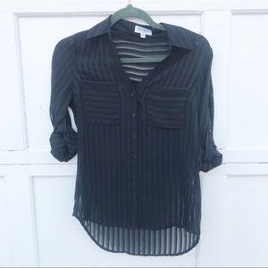 Express Long Sleeve Striped Portofino Shirt